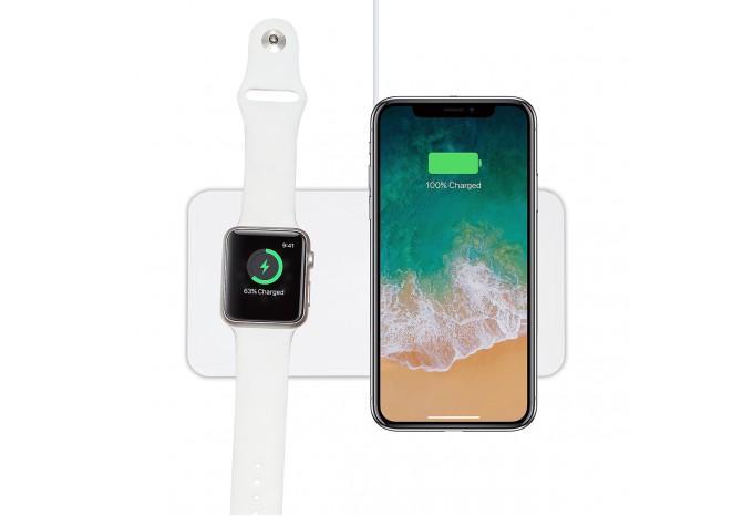 Беспроводное зарядное устройство 2 в 1 для iPhone 8 - 11 и Apple Watch