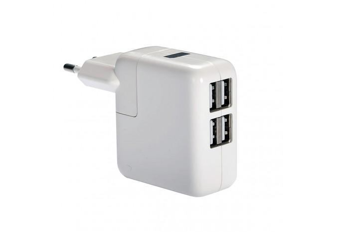 Зарядное устройство 4 USB в розетку 220В для iPhone, iPad