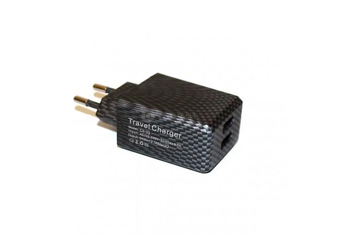 Зарядное устройство 2 USB в розетку 220В