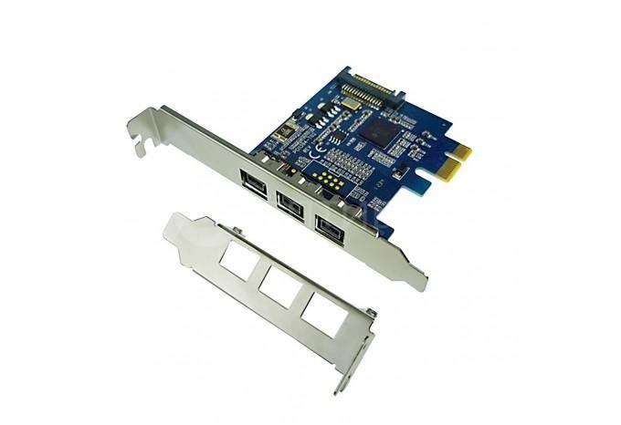 Переходник адаптер с PCI-E на FireWire 800 1394B