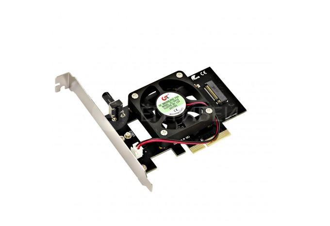 Переходник с M.2 дисков на PCI-E x4 с вентилятором для охлаждения