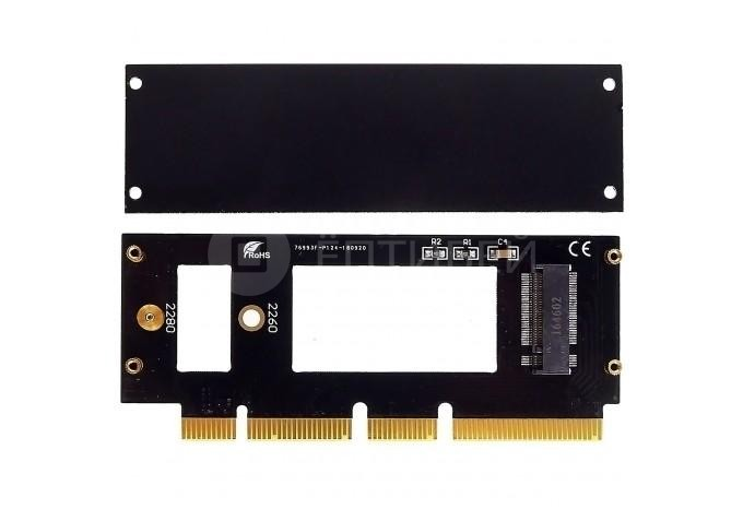 Переходник адаптер с M.2 SSD на PCIe x4, x8, x16 для Mac Pro 2009-2012, PC