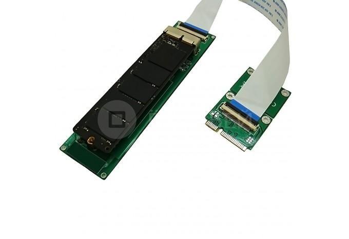 Переходник адаптер с mini PCIe на Apple SSD PCIe (2013-2017) с шлейфом FPC