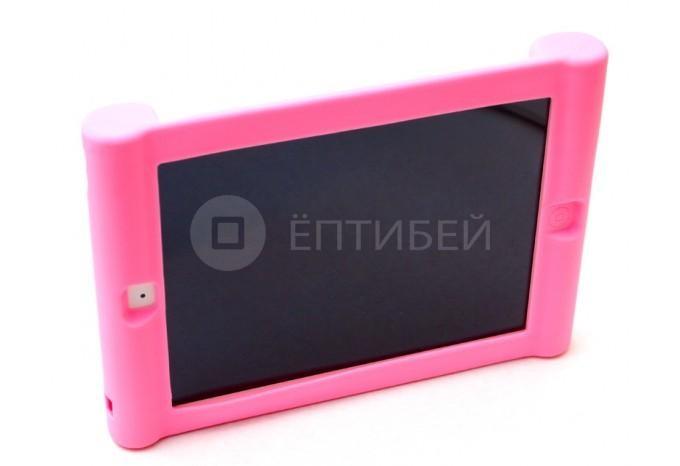 Детский чехол для ребенка для iPad 5/Air силиконовый розовый