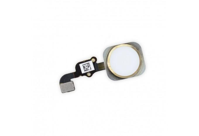 Кнопка Home для iPhone 6S Plus в сборе со шлейфом золотая 00459-01