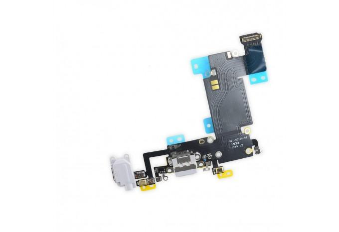 Нижний шлейф с разъемом Lightning и микрофоном для iPhone 6S Plus светло-серый 821-00126-А