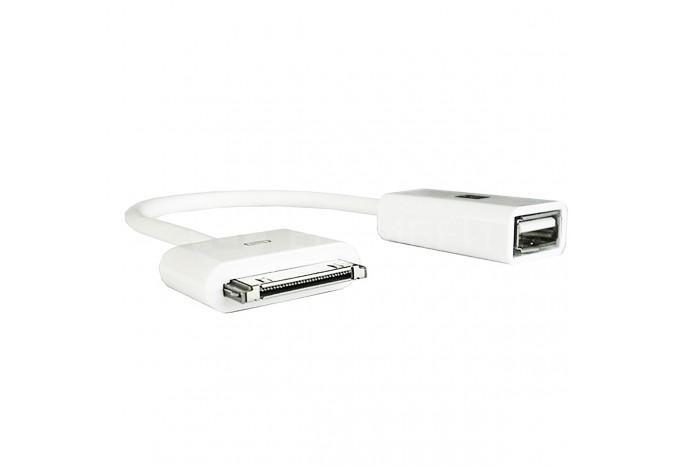 OTG кабель 30-pin для iPhone, iPod, iPad