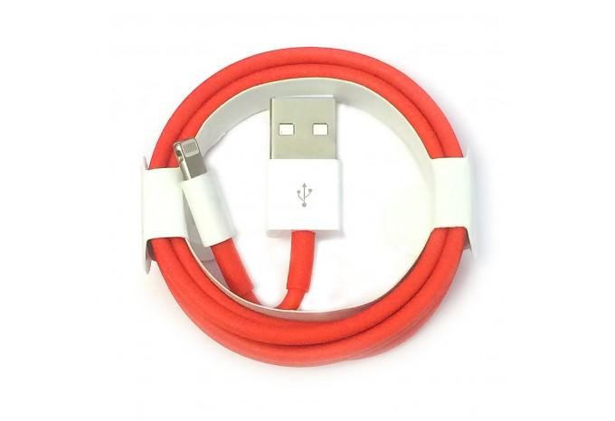 Кабель Foxconn Lightning на USB для iPhone, iPad OEM красный