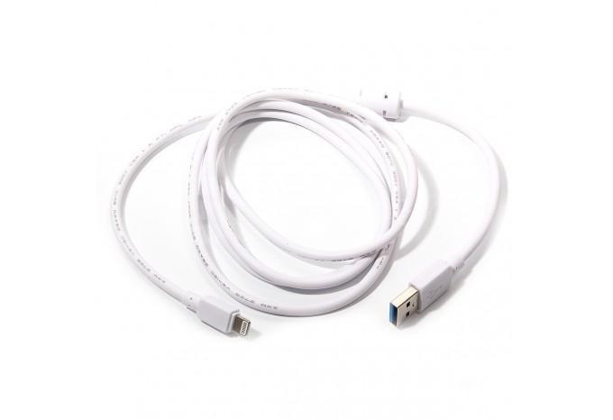 Мощный USB Lightning кабель, зарядка для iPhone 5, 5s, 5c, 6, 6+, 6S и iPad retina/mini с защитой от наводок
