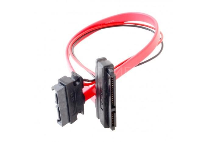 Кабель SATA 7 + 6 pin Male to SATA 7 pin + 15 pin Female удлинитель