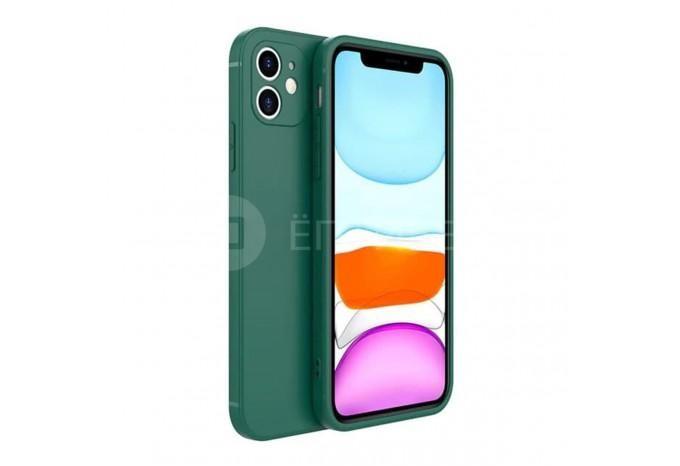 Зеленый матовый силиконовый чехол для iPhone 12 mini