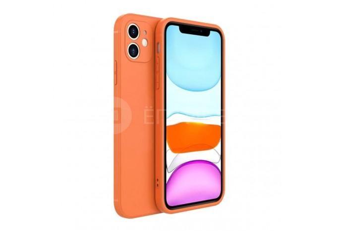 Тонкий оранжевый силиконовый чехол для iPhone 12 mini