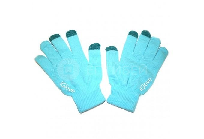 Перчатки iGlove для сенсорных экранов, телефонов iPhone голубые