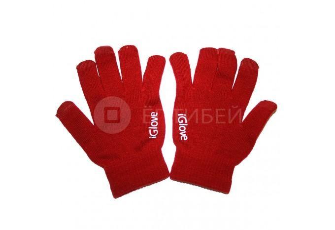 Перчатки iGlove для сенсорных экранов, телефонов iPhone бордовые
