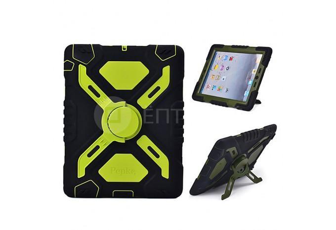 Супер ударопрочный чехол для iPad mini / iPad mini 2 черно зеленый