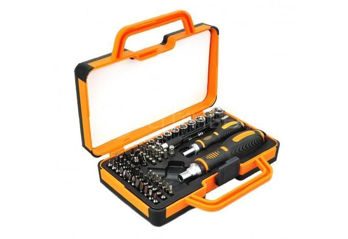 Гипер набор отвёрток и насадок в резиновом чемодане для ремонта 69 в 1