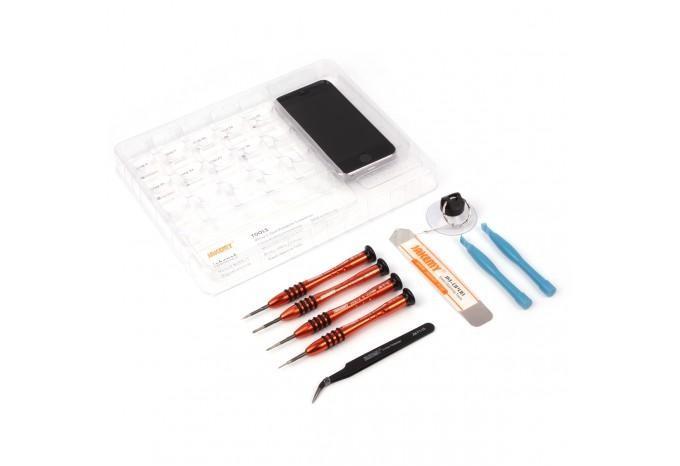 Набор для ремонта iPhone 4, 4S, 5, 5C, 5S, 6, 6 Plus с удобным органайзером винтов