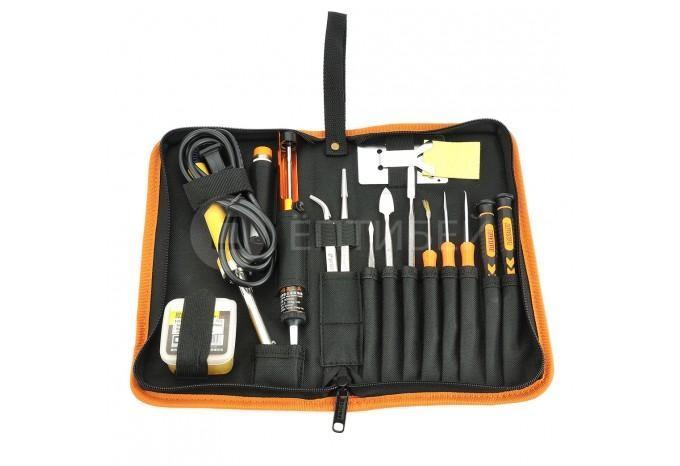 Профессиональный большой набор инструмента для пайки 23 в 1