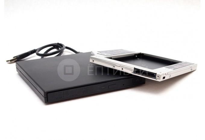Комплект Optibay 9,5 мм PATA + USB корпус для DVD привода PC