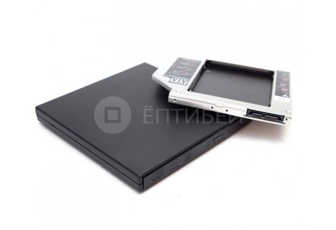 Комплект Optibay 9,5 мм SATA + USB корпус для DVD привода PC