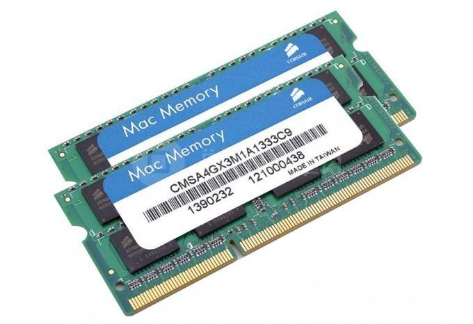 Память для iMac, MacBook Pro, Mac mini Corsair SO-DDR3 8Gb (2X4Gb) 1333MHz