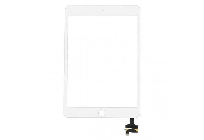 Тачскрин (стекло) белый с микросхемой для iPad mini 3 Retina