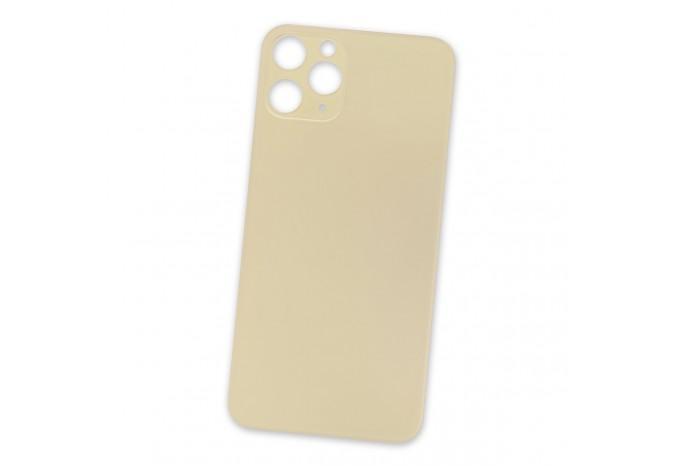 Задняя стеклянная крышка для iPhone 11 Pro золотая