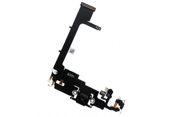 Нижний шлейф зарядки Dock коннектор для iPhone 11 Pro черный