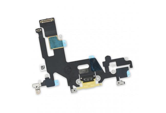 Нижний шлейф зарядки Dock коннектор для iPhone 11 желтый