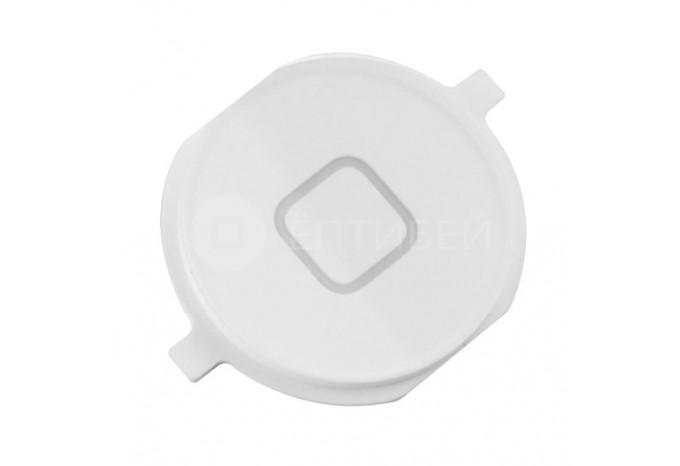 Круглая нижняя кнопка HOME для iPhone 4 белая