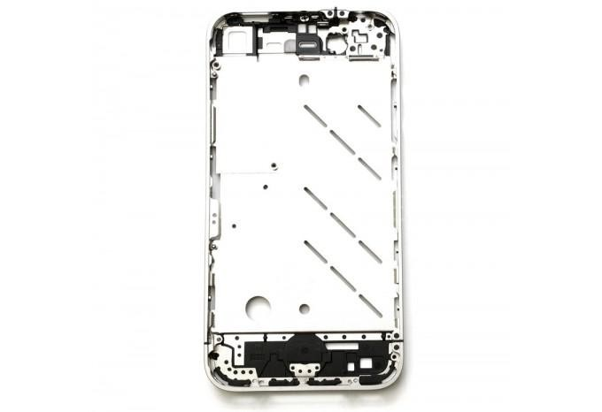 Средняя часть (корпус, рамка) для Apple iPhone 4 серебристого цвета