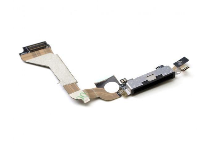 Шлейф зарядки и синхронизации c микрофоном DOCK DATA Connector iPhone 4 черный
