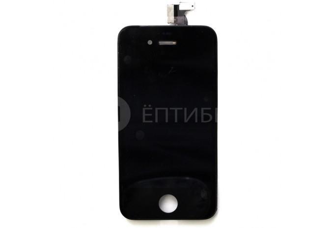 Дисплей (тач скрин и матрица) для iPhone 4 черный