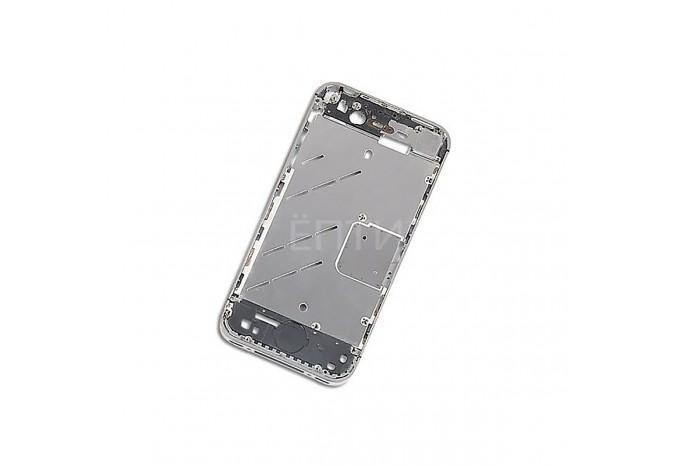 Средняя часть (корпус, рамка) для Apple iPhone 4s серебристого цвета