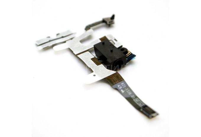 Шлейф кнопок громкости и MUTE с аудио входом для iPhone 4S черный