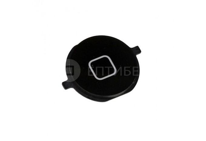Круглая нижняя кнопка HOME с креплениями для iPhone 4S черная