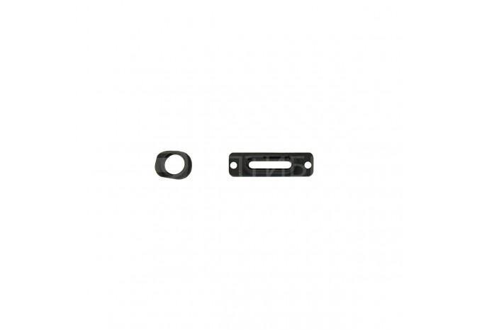 Крепежные планки портов наушников и зарядки для iPhone 5 черные