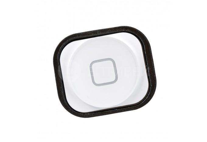 Кнопка нижняя HOME c креплением для iPhone 5 белая