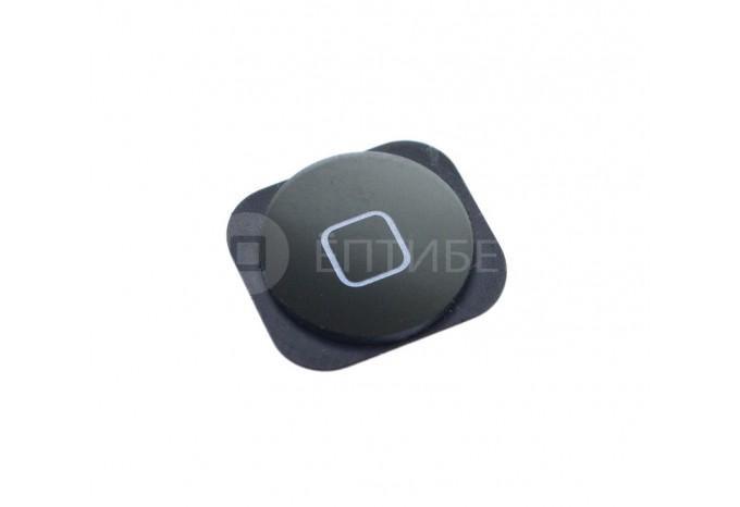 Кнопка нижняя HOME c креплением для iPhone 5 черная