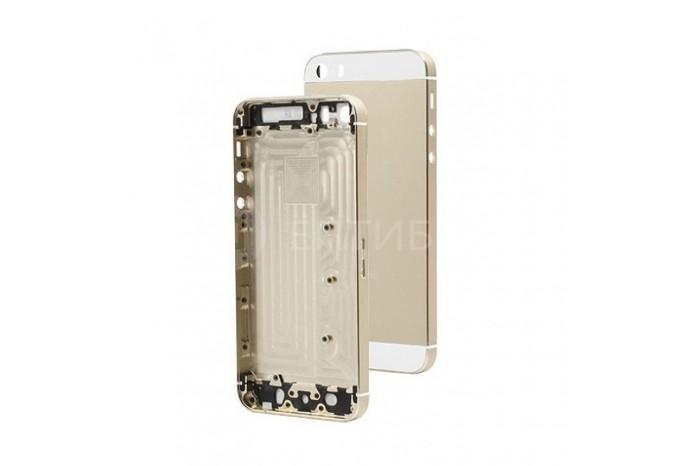 Задняя панель (корпус) для Apple iPhone 5S золотого цвета