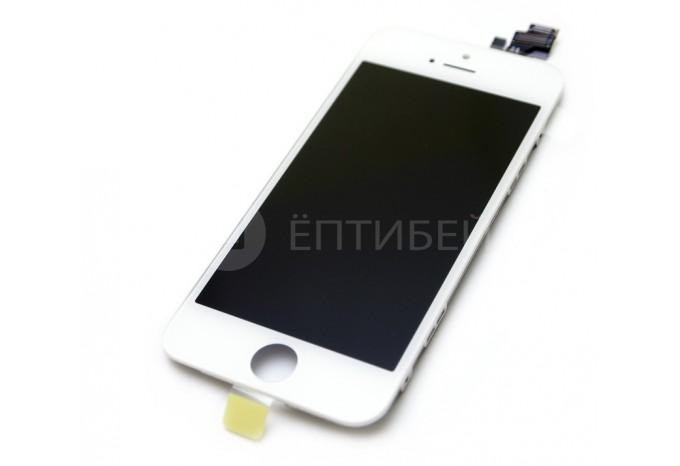 Дисплей в сборе (тач стекло и матрица) для iPhone 5S, SE белый