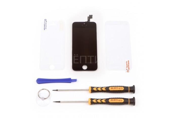 Набор для замены дисплея в iPhone 5C черный c инструментом