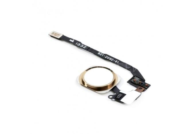 Кнопка HOME для iPhone 5S/SE в сборе с сенсором отпечатков пальцев золотая