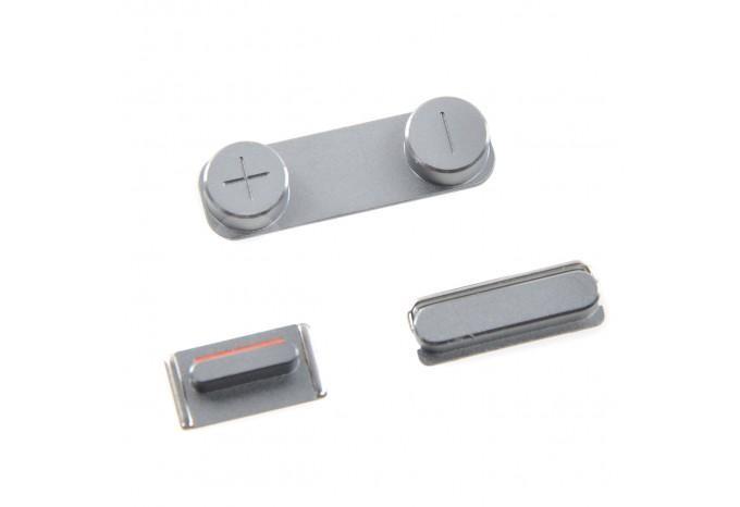 Комплект кнопок Power, громкости, Mute для iPhone 5S/SE цвет черный