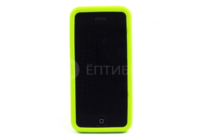 Пластиковый защитный чехол для iPhone 5C зелёный