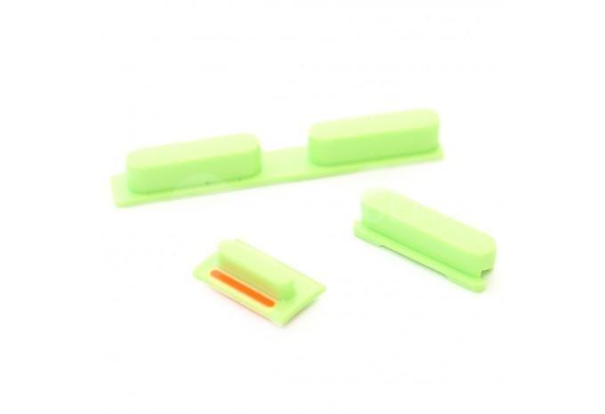 Набор кнопок для iPhone 5C (Громкость, Mute, Power), цвет Зелёный