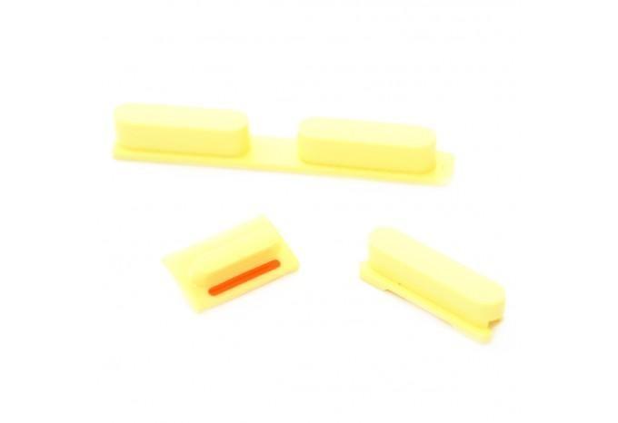 Набор кнопок для iPhone 5C (Громкость, Mute, Power), цвет Желтый