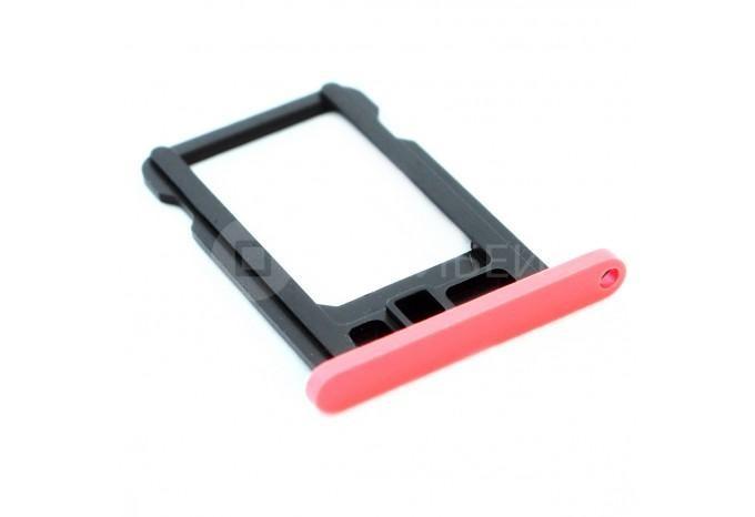 Сим-лоток (Nano Sim Card Tray) для Nano сим карты iPhone 5C розовый