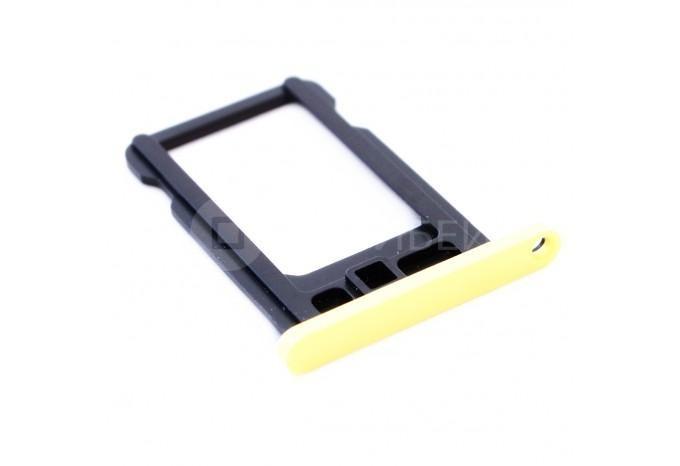 Сим-лоток (Nano Sim Card Tray) для Nano сим карты iPhone 5C желтый