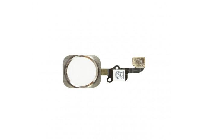 Кнопка HOME со шлейфом для iPhone 6 Plus серебро